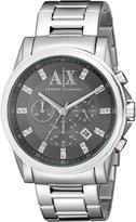 Armani Exchange A|X Men's AX2092 Analog Display Analog Quartz Silver Watch