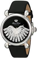 Glam Rock Women's GR28036 Vintage Glam Analog Display Swiss Quartz Black Watch