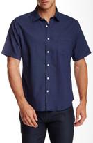 Toscano Regular Fit Short Sleeve Neat Floral Shirt