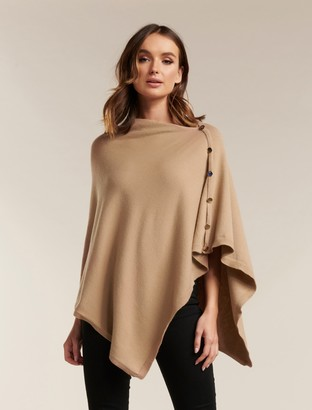Ever New Chloe Button Poncho