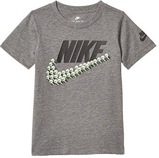 Nike Kids Short Sleeve Smile Swoosh Graphic T-Shirt (Little Kids) (Carbon Heather) Boy's Clothing