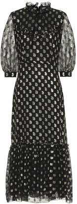 Etro Paisley fil coupe silk maxi dress