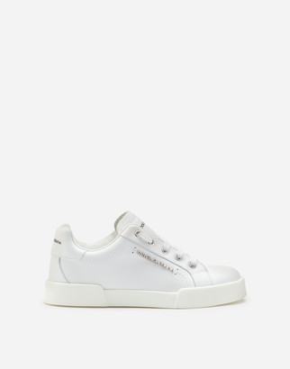 Dolce & Gabbana Calfskin Portofino Light Sneakers With Logo
