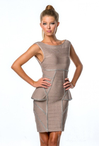 Terani Couture 151C0236A Bandage Peplum Cocktail Dress