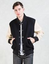 MKI MIYUKI ZOKU Black/Off White Classic Varsity Jacket