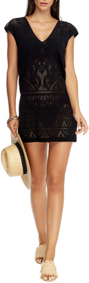 Jets Lace Knit Coverup Shift Dress
