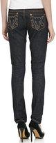 MEK Avalon Skinny Cigarette-Leg Jeans, Dark Blue