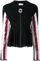 Aviu sequined sleeve fitted jacket