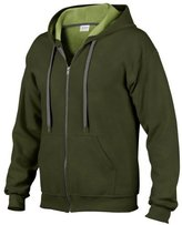 Gildan Heavy Blend Mens Vintage Full Zip Hooded Sweat / Hoodie (L)