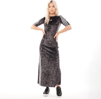 adidas Womens Velvet Dress Black