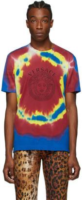 Versace Multicolor Medusa Tie-Dye T-Shirt