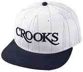 Crooks & Castles Men's Woven Snapback Cap-Serif