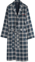 Hugo Boss - Plaid Cotton-twill Robe