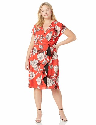 Adrianna Papell Women's Paisley Floral Draped Aline