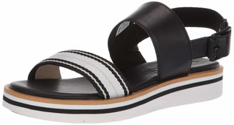 Timberland Women's Adley Shore Fabric and Leather Ankle Strap Sandal