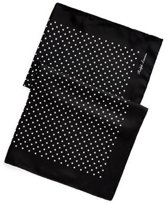 Ralph Lauren Polka-Dot Silk Scarf