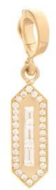 Azlee - Diamond & 18kt Gold Charm - Gold