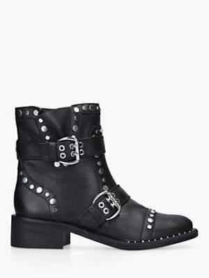 Sam Edelman Drea Moto Stud Buckle Ankle Boots, Black