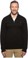 U.S. Polo Assn. Long Sleeve 1/4 Zip Chest Texture