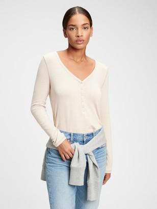 Gap Softspun Henley T-Shirt