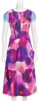 Burberry 2015 Watercolor Printed Silk Dress
