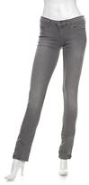 Super Skinny Ankle Zip Jeans: Grey Wash