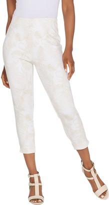 Kelly by Clinton Kelly Regular Printed Ponte Crop Pants