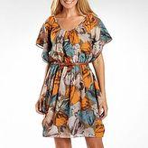 J Taylor Printed Chiffon Belted Dress