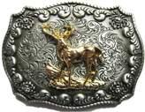 jeans friend Original Western Cowboy Rodeo Deer Double Color Belt Buckle