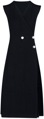 Jil Sander Tailored Tuxedo Dress