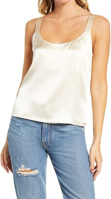 Reformation Casa Silk Crop Camisole
