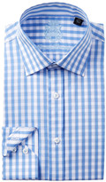 English Laundry Checkerboard Trim Fit Dress Shirt