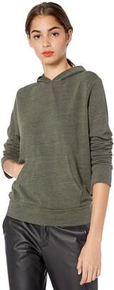 Monrow Women's Heather Fleece Kangaroo Pullover