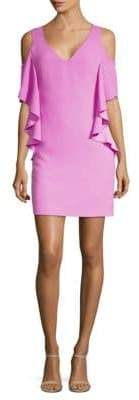 Trina Turk Lambada Cold-Shoulder Sheath Dress