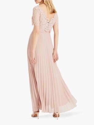 Phase Eight Elisabetta Lace Overlay Maxi Bridesmaid Dress, Petal Pink