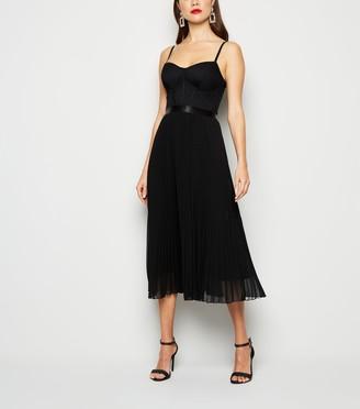 New Look Bustier Pleated Midi Dress