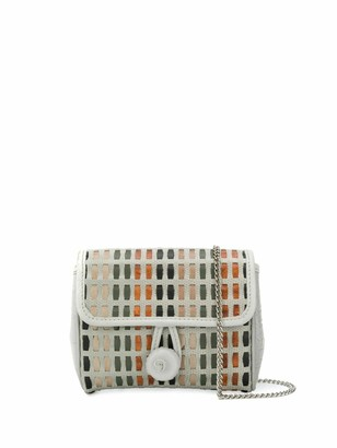 Carmina Campus Braided Flap Crossbody Bag