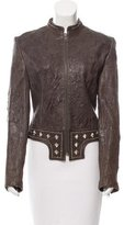 Thomas Wylde Embellished Leather Jacket