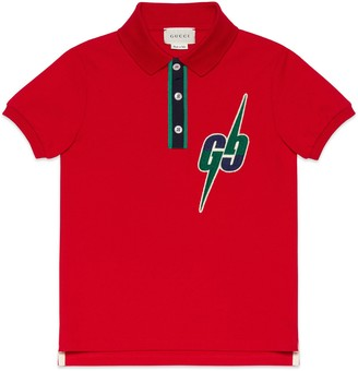 Gucci Children's polo with GG Blade