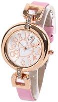 Bel Air Bel-Air Heart & Stone Wrist Watch Women's Wrist Watch Gold X Pink AC-W-JH8