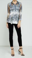 Komarov Long Shirt W/Lace Insert