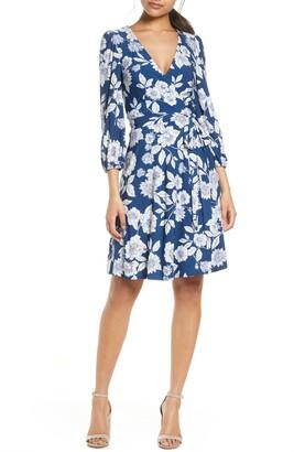 Eliza J V-Neck Long Sleeve Dress