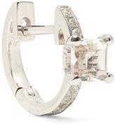 Elise Dray Diamond, topaz & white-gold mini-hoop earring