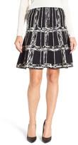 Nic+Zoe Windowpane Knit Twirl Skirt (Petite)