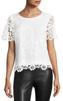 Saks Fifth Avenue COLLECTION FLoral Lace Top