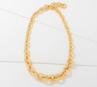 NUOVO Oro Graduated Oval Link Necklace 14K Gold Over Resin