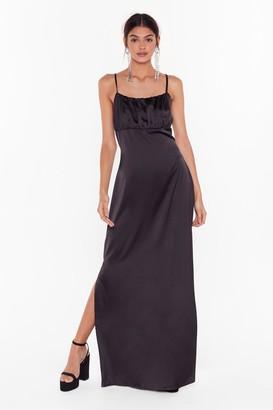 Nasty Gal Womens Studio Sleek When We Touch Maxi Dress - Black
