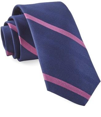 The Tie Bar Navy Goal Line Stripe Tie