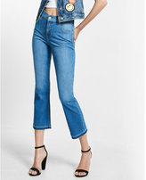 Express high waisted released hem bell crop jeans