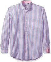 Izod Men's Big and Tall Essential Tattersal Long Sleeve Shirt